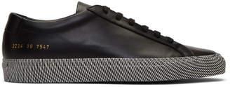 Common Projects Black Achilles Moire Sole Low Sneakers