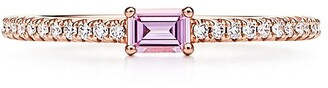 Tiffany & Co. Novo Horizon ring in 18k rose gold with a pink sapphire and diamonds