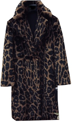 KENDALL + KYLIE Black Faux fur Coat for Women