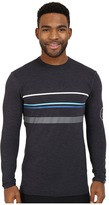 VISSLA Alltime Stripe Long Sleeve Heathered Surf T-Shirt UPF 50