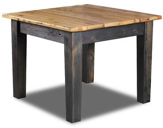 Elgin Millwood Pines Counter Height Dining Table Millwood Pines Base Color / Top Color: Ebony / Natural
