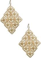 Matte Swaying Diamond-Shaped Earrings