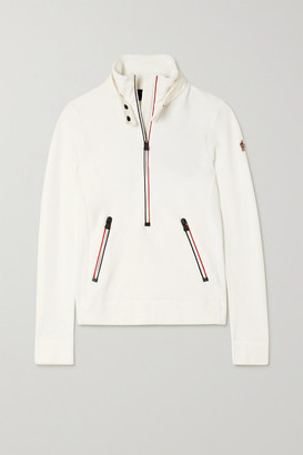 MONCLER GRENOBLE Shell-trimmed Fleece Top - White