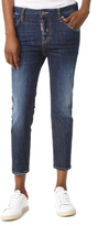 DSQUARED2 Cool Girl Cropped Jeans with Patches