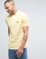 Lyle & Scott Pique Polo Regular Fit Eagle Logo in Yellow
