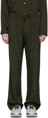 Needles Green Leopard Trousers