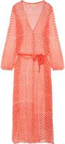 Cloe Cassandro Jemima Printed Silk-chiffon Wrap Dress
