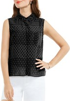 Vince Camuto Sleeveless Collared Top