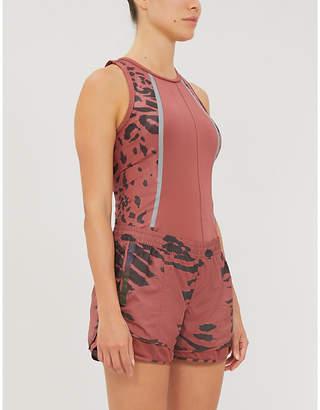adidas by Stella McCartney Run M20 camo-print recycled shell shorts