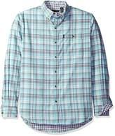 G.H. Bass Men's Lake Water Flannel Plaid Long Sleeve Shirt