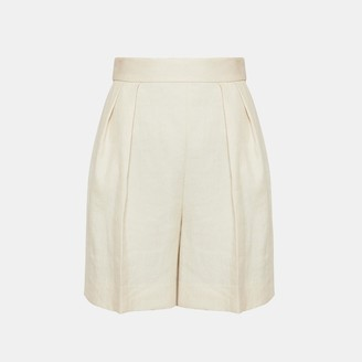 Theory Luxe Linen Pleated Short