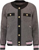 Pierre Balmain Appliquéd cotton-blend tweed jacket
