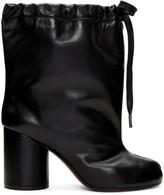 Maison Margiela Black Drawstring Tabi Boots