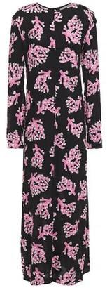 Marni Button-embellished Printed Crepe Maxi Dress