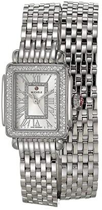 Michele Deco Madison Mini Double Wrap Bracelet (Silver) Watches