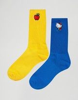 Lazy Oaf Hello Kitty Apple 2 Pack Socks