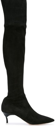 Casadei Over-The-Knee Pointed Toe Boots
