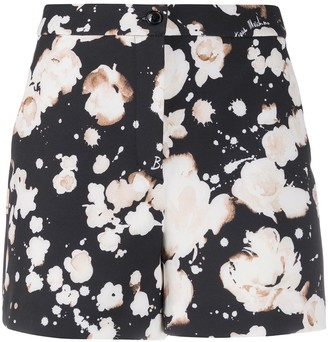 Boutique Moschino High Rise Floral Print Shorts