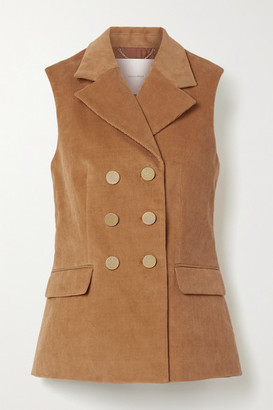 ADAM by Adam Lippes Double-breasted Stretch-cotton Corduroy Vest - Light brown