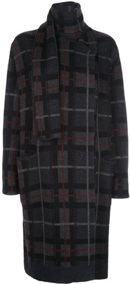 Le Kasha Antigua checked cashmere cardi-coat