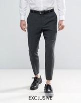 Heart & Dagger Skinny Tapered Smart Trousers In Tweed