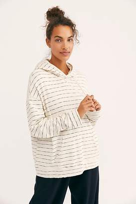 Monrow Stripe Oversized Hoodie by at Free People