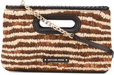 MICHAEL Michael Kors striped clutch - women - Leather/Straw - One Size