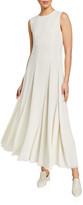 Co Jewel-Neck Sleeveless Dress with Asymmetric Seams