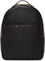 Giuseppe Zanotti Black Leather Calby Backpack