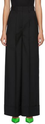 MSGM Black Wool Long Trousers