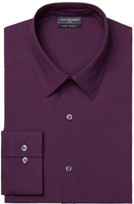 Van Heusen Mens Slim-Fit 4-Way Stretch Flex 3 Point-Collar Dress Shirt
