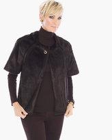 Chico's Short-Sleeve Faux-Fur Jacket