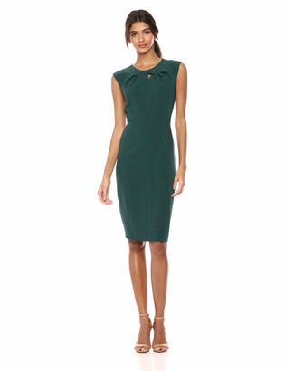 Lark & Ro Women's Sleeveless Twist Neck Knot Sheath Dress