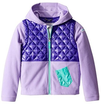 Obermeyer Hayden Hybrid Fleece Jacket (Toddler/Little Kids/Big Kids) (Va-Va Violet) Kid's Clothing