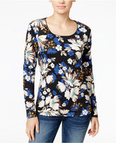 Karen Scott Long-Sleeve Top, Only at Macy's