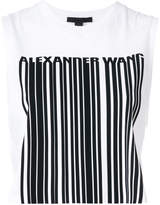 Alexander Wang exclusive crewneck crop top with bonded barcode