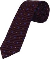 Oxford Silk Tie Pttrn Regular Red X