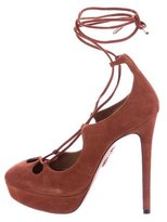 Aquazzura Suede Platform Pumps
