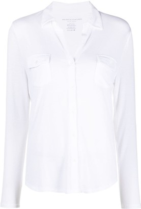 Majestic Filatures Spread Collar Long-Sleeved Shirt