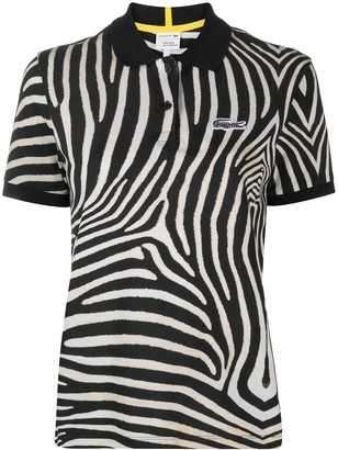 Lacoste Zebra-Print Short-Sleeved Polo Shirt