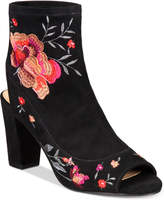 INC International Concepts Anna Sui Loves Women's Kayden Embroidered Booties, Created for Macy's Women's Shoes