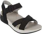 Dansko As Is Nubuck or Suede Sandals with Ankle Strap - Cindy