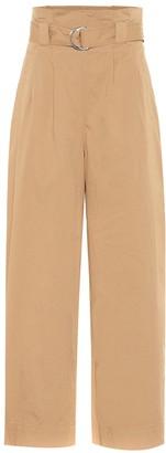 Ganni Wide-leg cotton paperbag pants