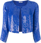 P.A.R.O.S.H. sequinned cropped jacket - women - Viscose/PVC - S