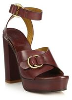 Chloé Kingsley Platform Leather Sandals