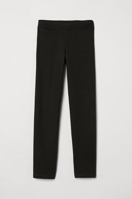 H&M Leggings with Brushed Inside - Black