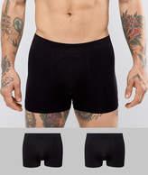 Celio 2 Pack Seamless Boxers In Black