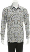 Brioni Floral Print Button-Up Shirt