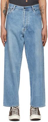 Kuro Blue Crossed Denim Jeans