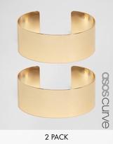Asos Pack of 2 Minimal Cuff Bracelets